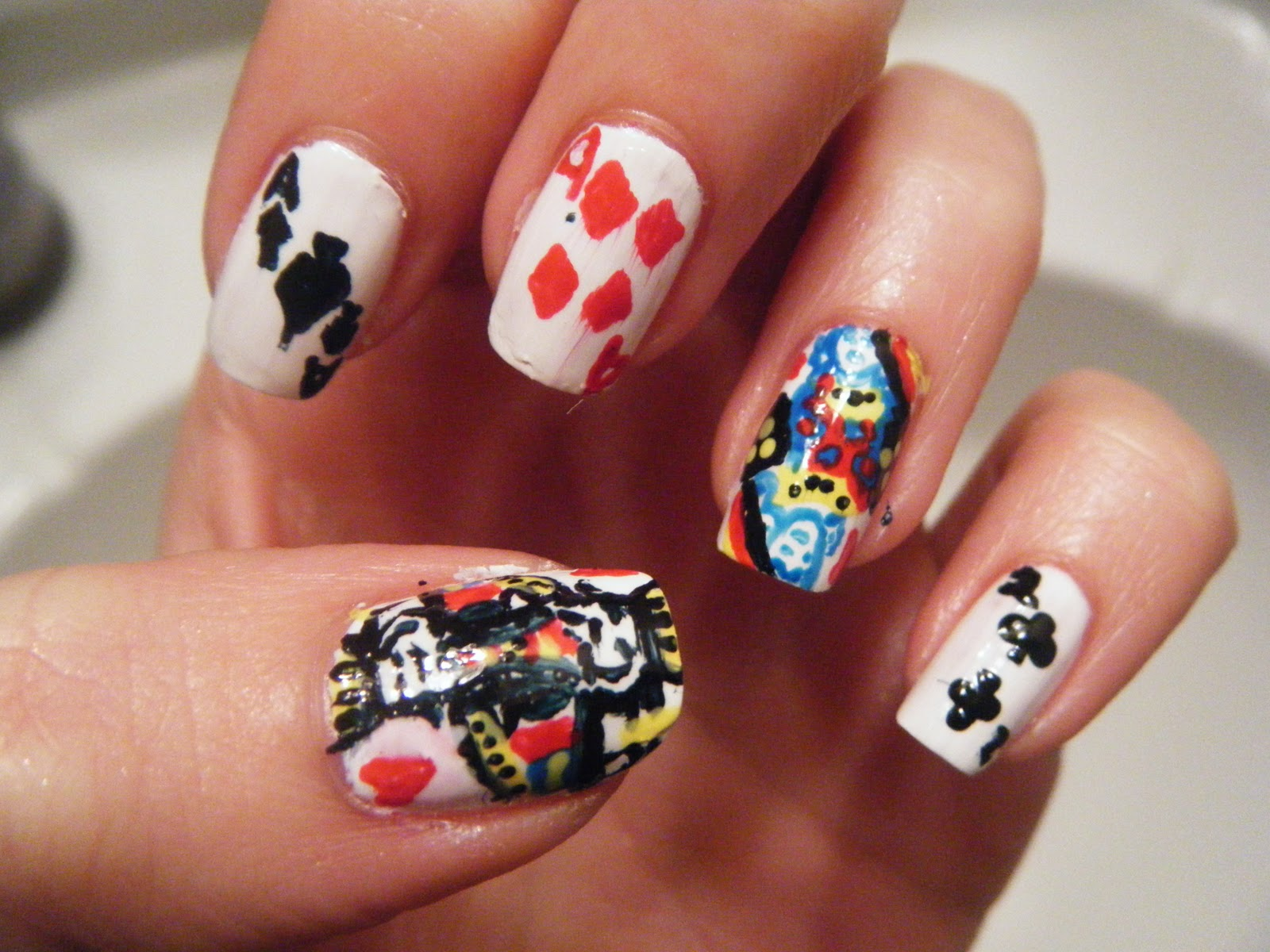Hail\'s Nails: Playing Card Nails