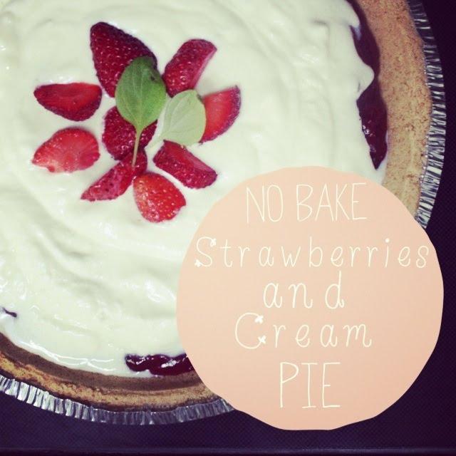 lace, etc.: No-Bake Strawberries & Cream Pie