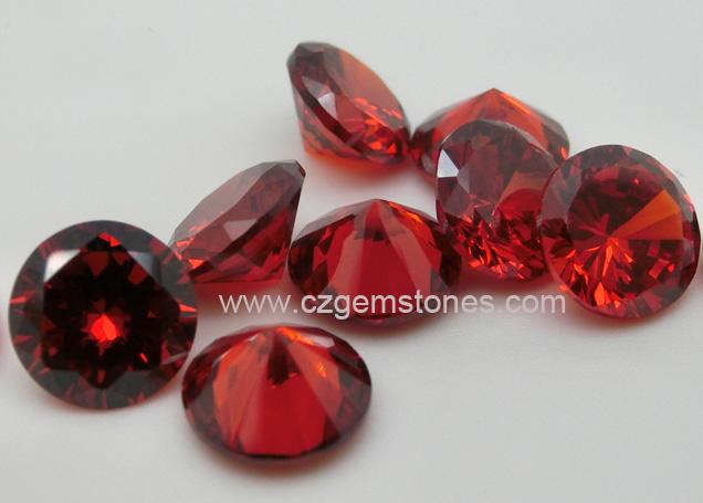 garnet color cz stones wholesale