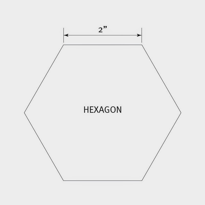 6 Inch Hexagon Template