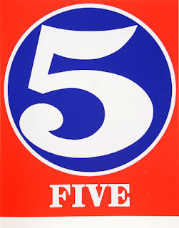 robert indiana creely numbers serigraphs five 5