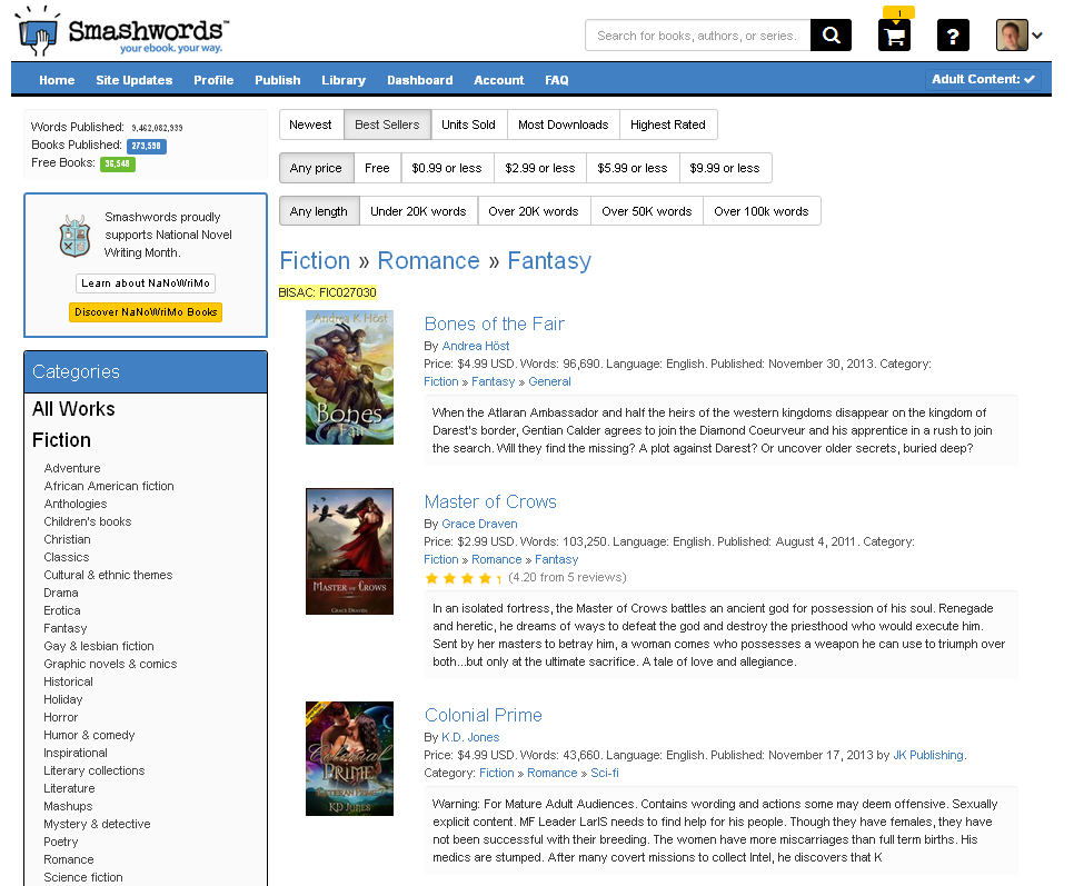 Tips for Publishing on Smashwords