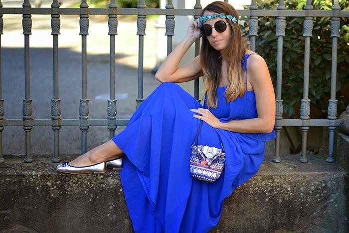 abito blu ballerine argento