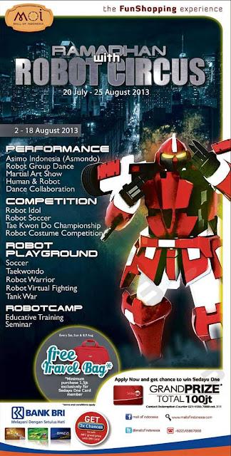 Hadiah/Harga Promo dari Mall of Indonesia di Event Robot Ciscus