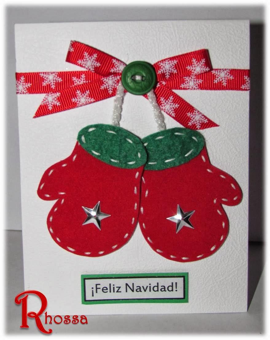 Rhossa art crafts mas tarjetas navide as - Postales navidenas creativas ...