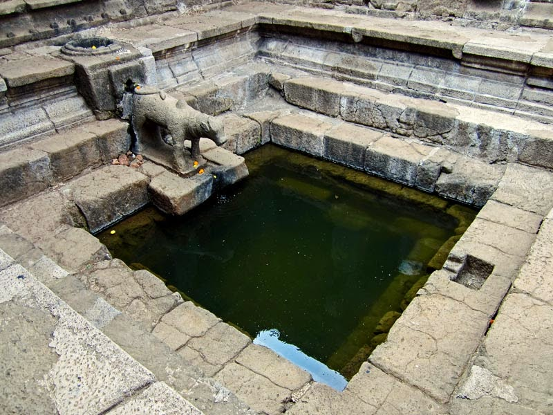 Pond inside Krishnabai temple