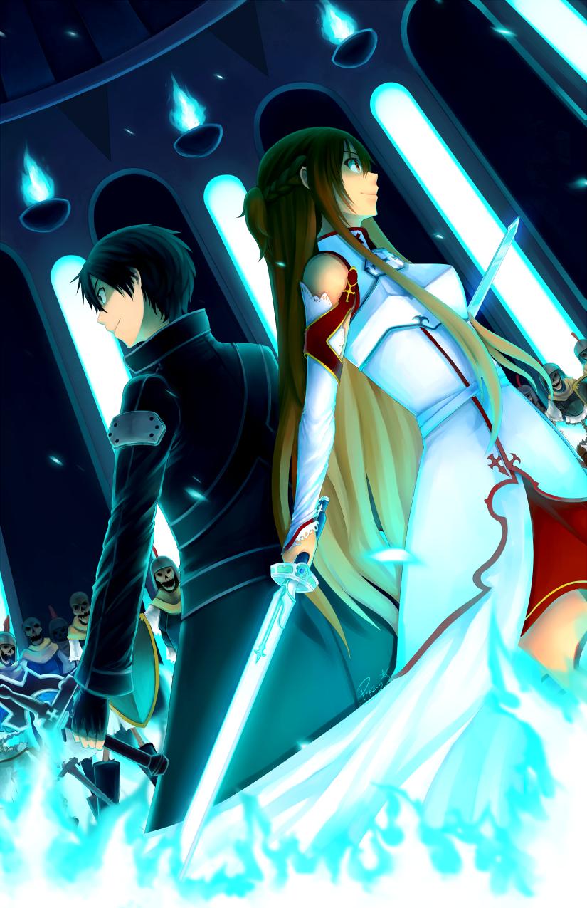 Kirito and Asuna 15 Wallpapers | Your daily Anime ... Kirito And Asuna