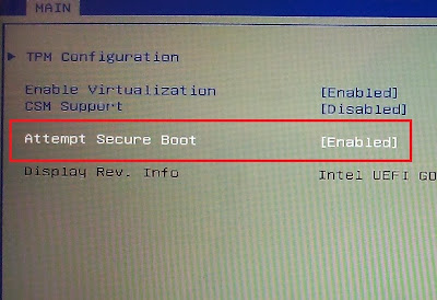 attempt secure boot