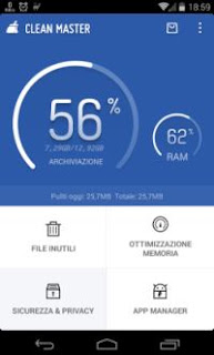 app Android pulitore e sicurezza