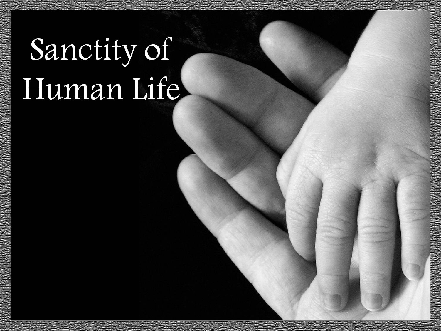 "the sanctity of life The ""sanctity of life"" is a phrase that in recent decades became commonplace in the moral and political debates concerning a wide range of bioethical issues: abortion, embryo research, cloning, genetic engineering, euthanasia, and others."