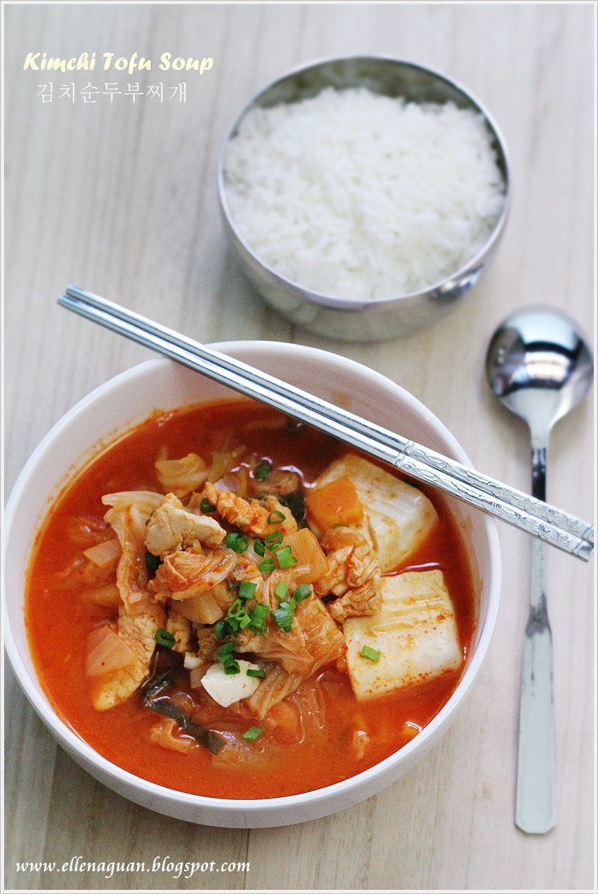 {Korean Cooking Project} Kimchi Tofu Soup - 김치순두부찌개 ...
