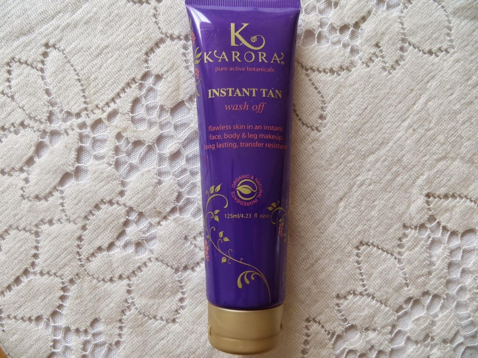 Karora, Self tan, fake tan, Karora review, Argan oil, Review, Instant tan, swatch, test