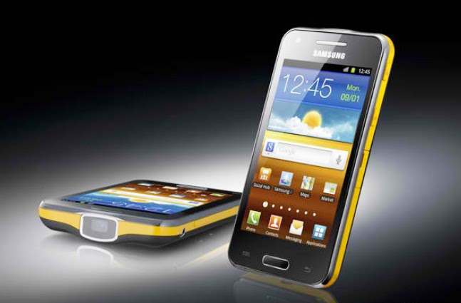 Samsung unveils galaxy beam first smartphone with built for Samsung beam smartphone