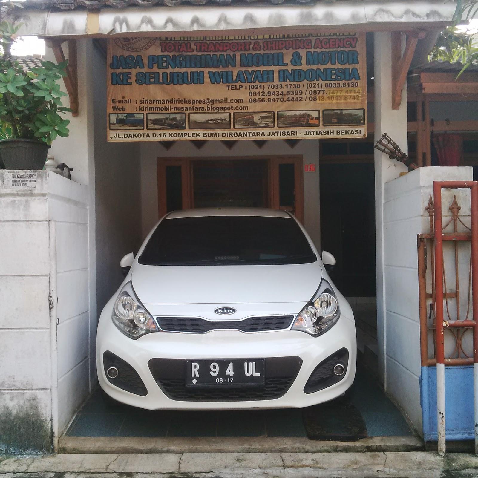 Pengiriman Kia Rio R 94 UL Jakarta ke Pontianak