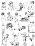 Brand New Rubber!!!!!!!!! 'Childhood' Stamp Sheet
