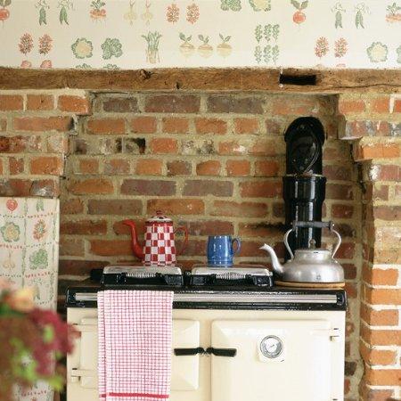 Vintage home decora con papel tapiz tu cocina for Papel para pared de cocina