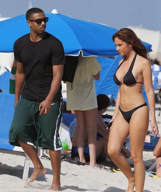 English:Michael B. Jordan Bikini Miami January 25, 2014