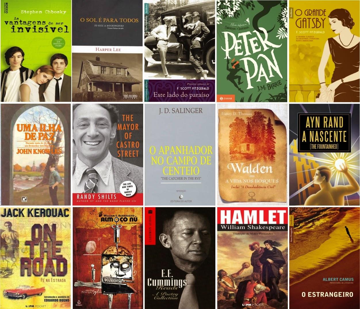 Livros citados em As Vantagens de Ser Invisível
