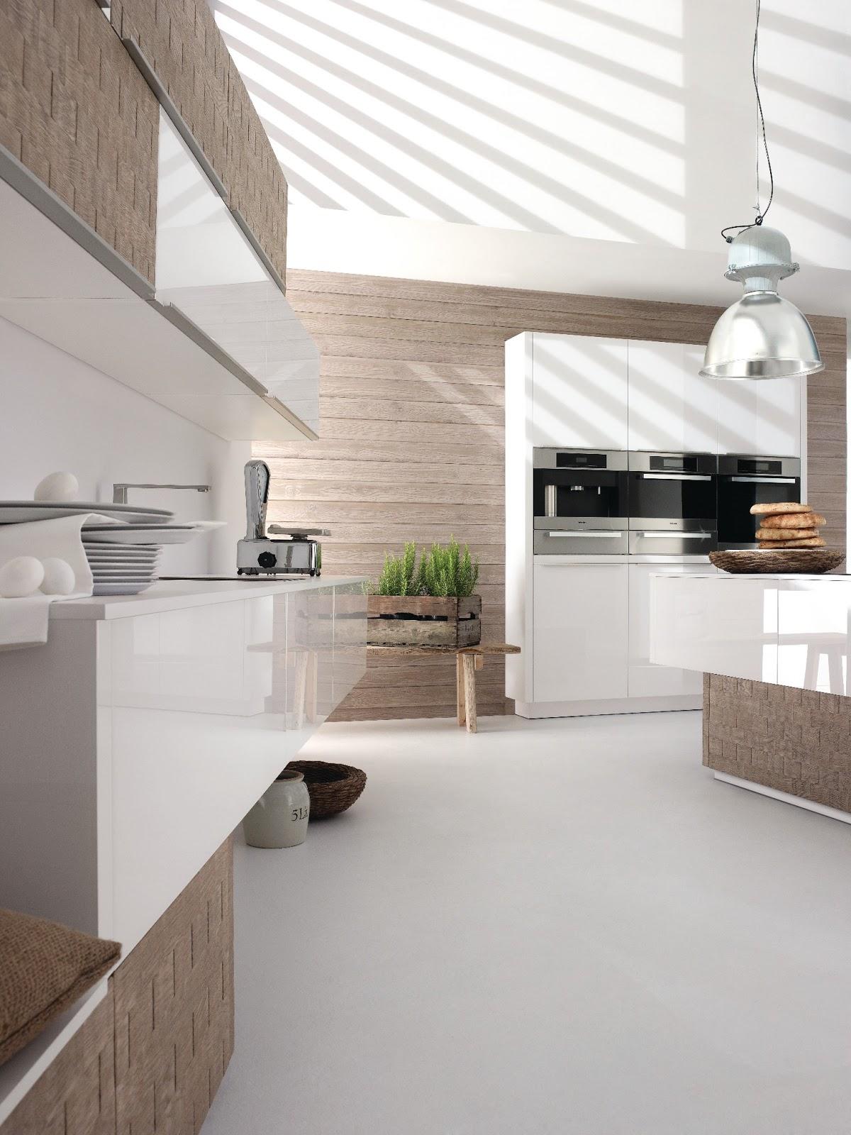 Deco Salon Moderne Classique : cuisine blanche design cuisine blanche design avec mur d armoire