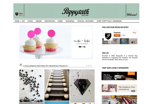 poppytalk blog screenshot