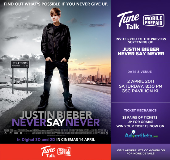 justin bieber never say never movie poster. justin bieber never say never