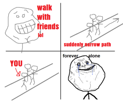 Suddenly Narrow Path - Forever Alone Comic