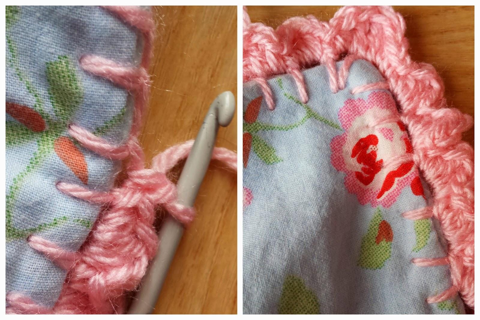 closeup crochet edge bedtime bunny