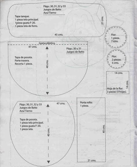 Moldes Para Hacer Lenceria De Baño:Revista Lencería para el hogar gratis – Revistas de manualidades