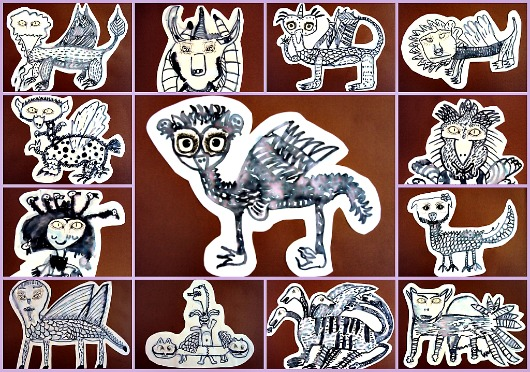 monstres, animals mitològics, mitologia