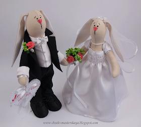 Свадебные зайчики своими руками сшить 21