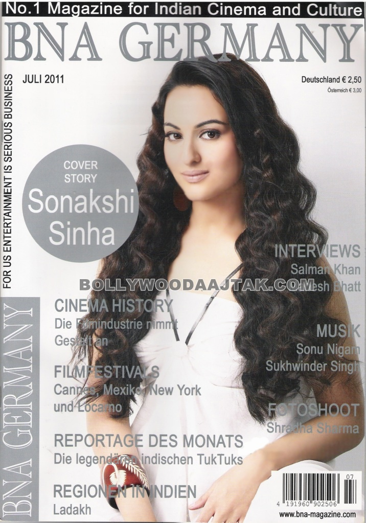 Sonakshi Sinha BNA Magazine Germany Scans