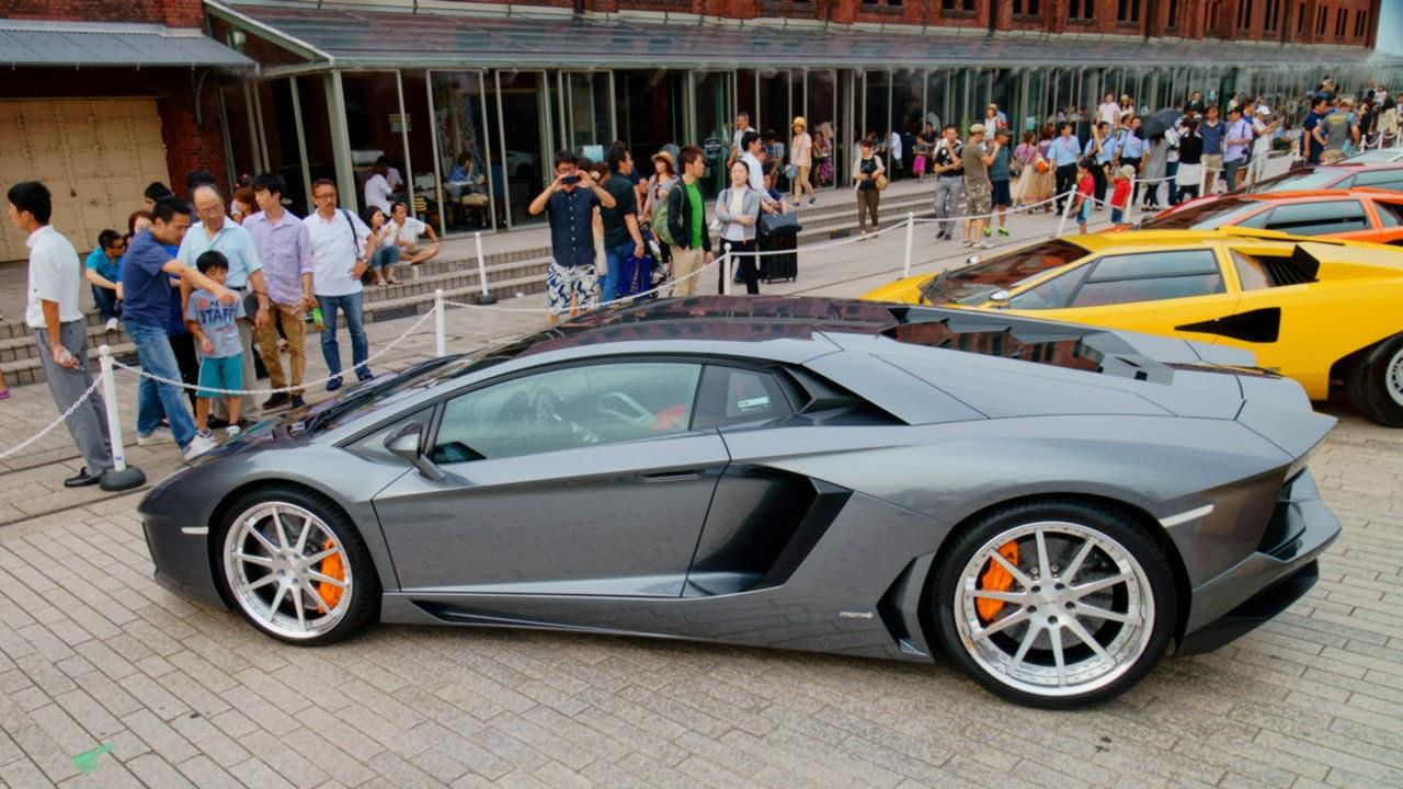 Lamborghini Owners Meet At Yokohama Motorflair