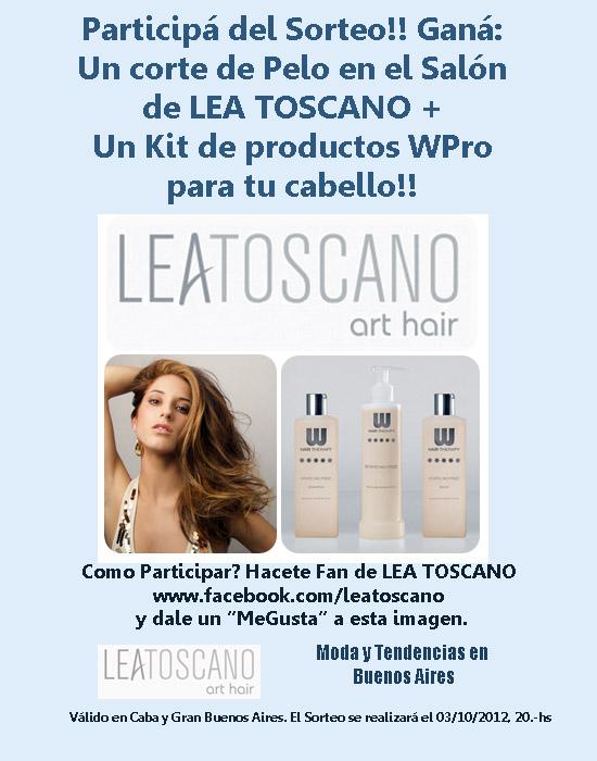 Sorteo Lea Toscano Art Hair. Moda cortes y peinados 2013.