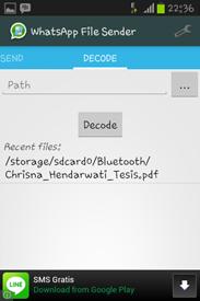 Cara Mengirim File Melalui Aplikasi WhatsApp File Sender