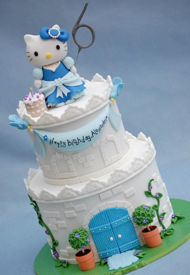 Cake Hello Kitty Blue : Birthday Cake