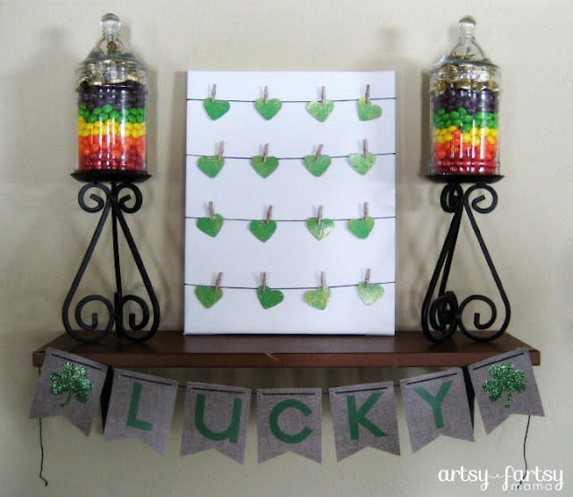 Lucky Shamrock Printable Banner & St. Patrick's Day Shelf