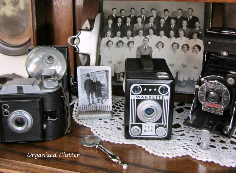 Cameras & vintage photos www.organizedclutterqueen.blogspot.com