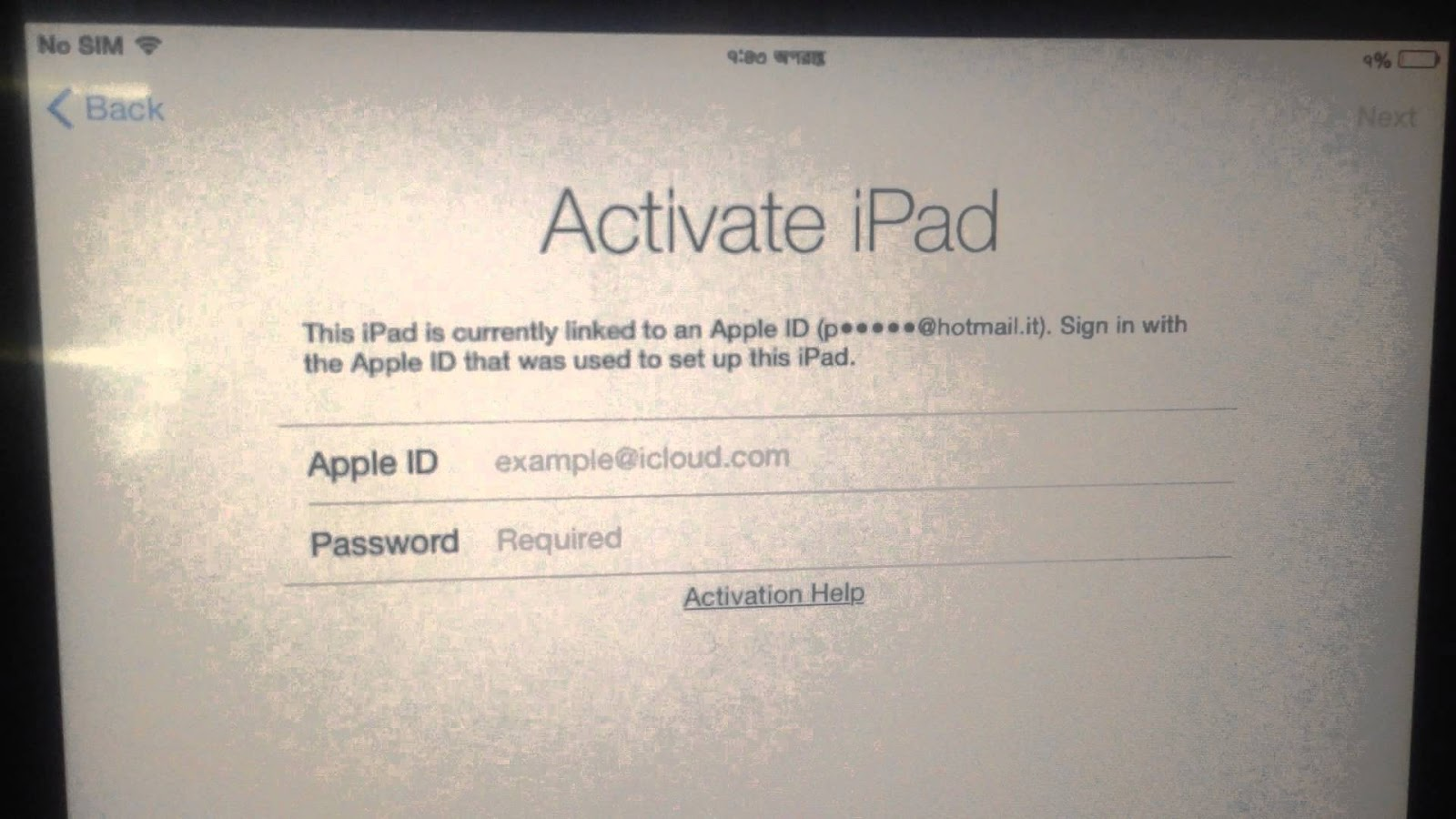 bypass activation ipad air