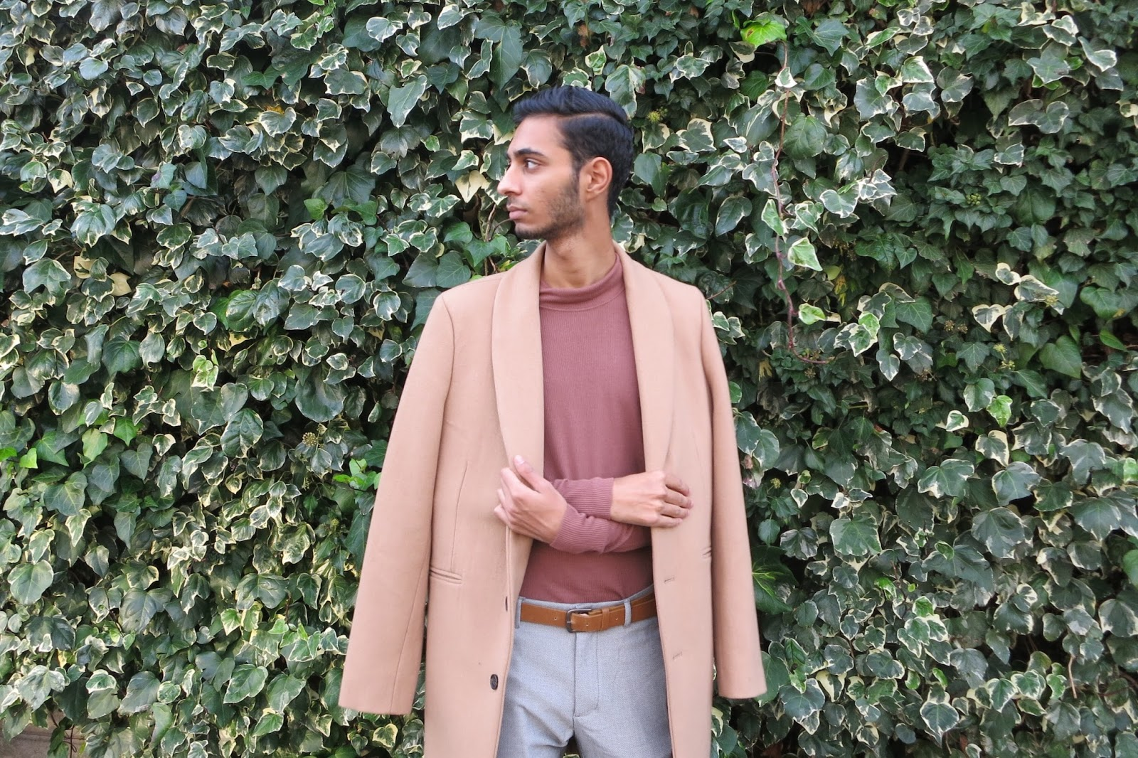Men's ASOS Camel Overcoat