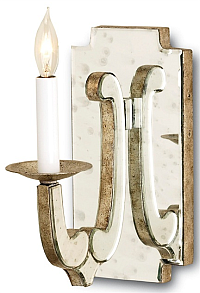mirrored silver wall sconce