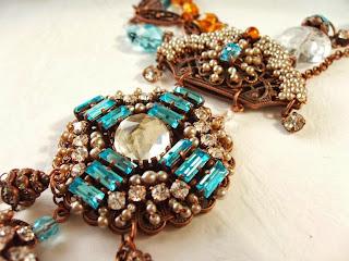 vintage stiilis ehted kaelakee mdmButiik pärlid kristallid sinine ehtekivid