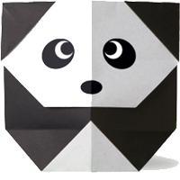 Origami Binatang Panda