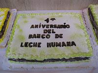 Torta aniversario del Banco de Leche