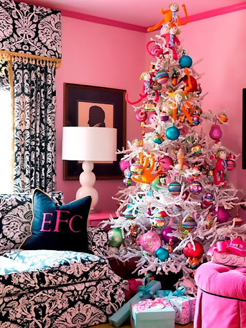 Candy colored Christmas tree