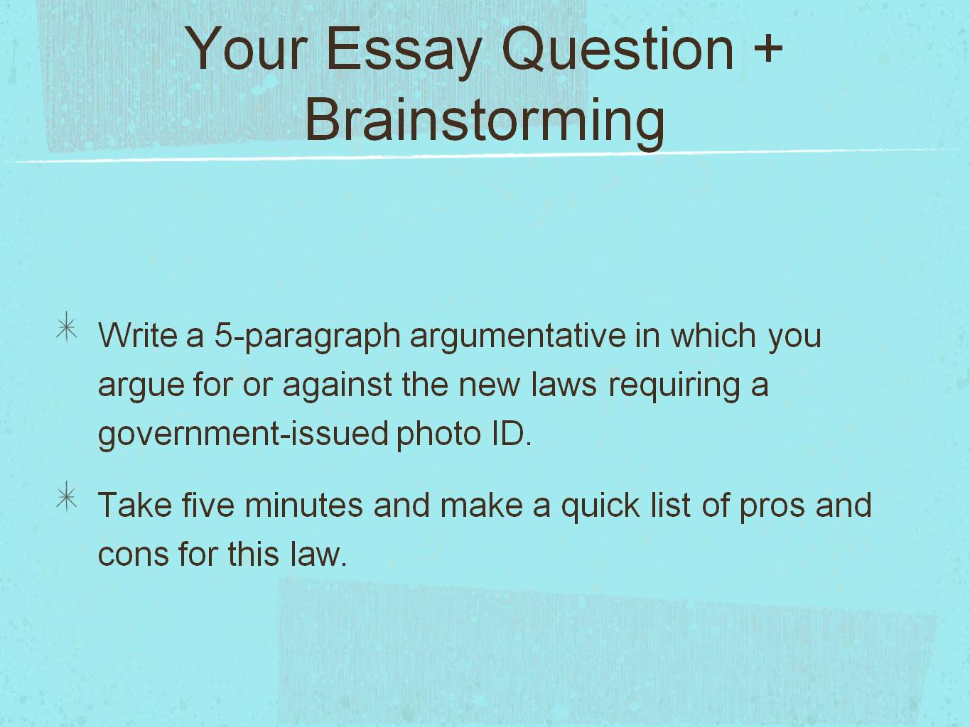 5 paragraph essay rules How to write a 5 paragraph essay: demands to format and content a 5 paragraph essay is usually a short and concise essay on a certain topic the content of it varies due to the topic selected, but some rules are the same.