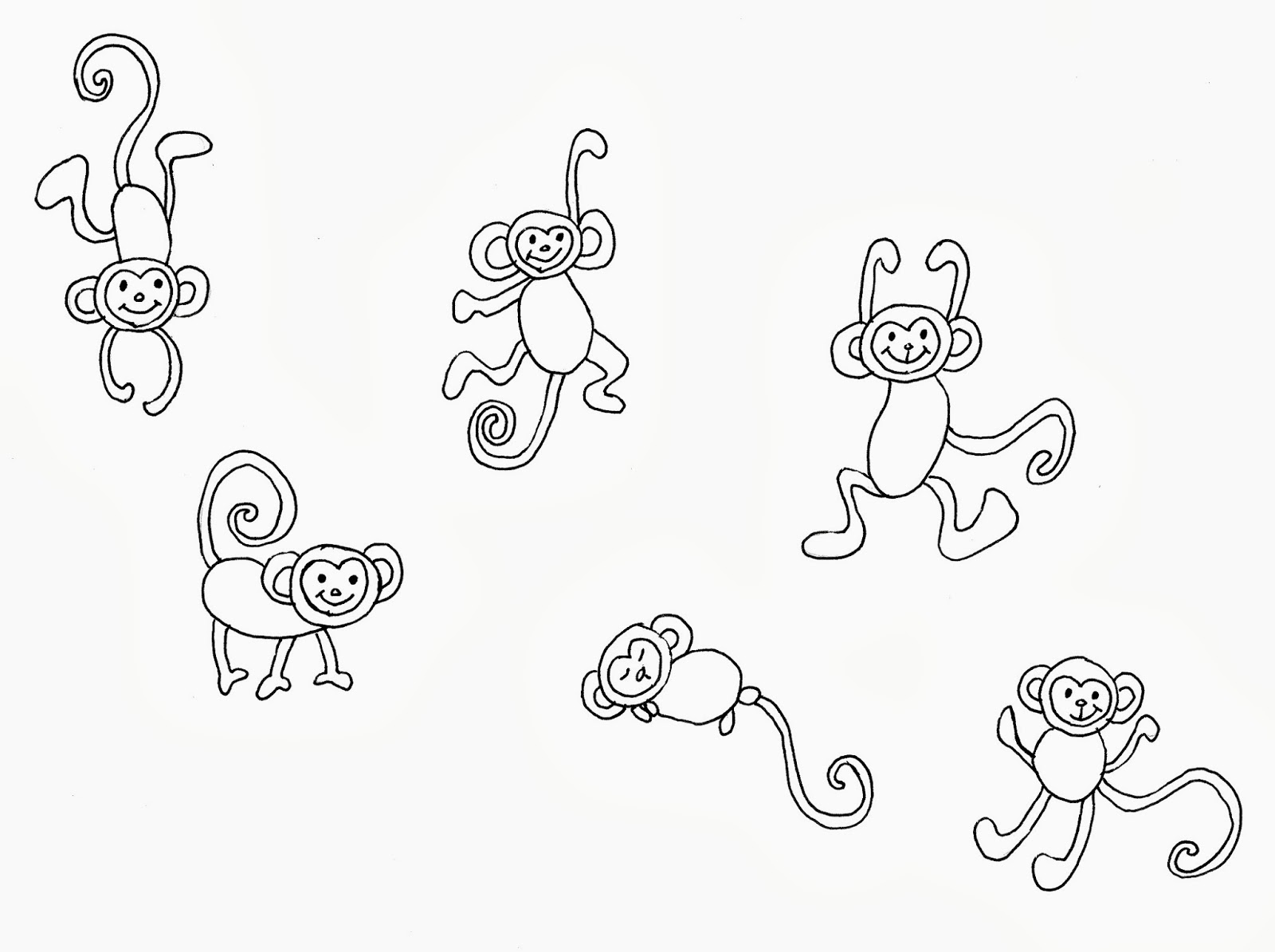 Displaying 17> Images For - Simple Monkey Drawing...