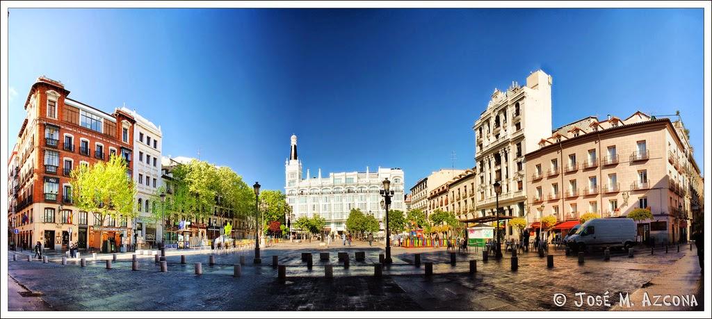 Plaza de Santa Ana - Panorámica desde la calle del Principe