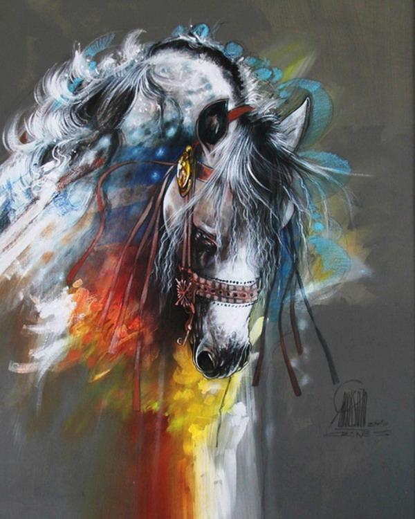 Im genes arte pinturas arte abstracto caballo en pintura for Imagenes de cuadros abstractos geometricos