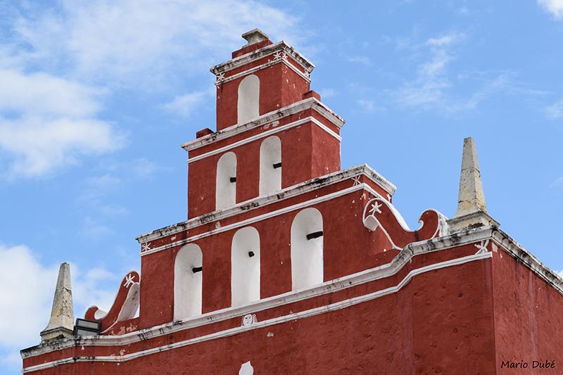 Église de style coloniale espagnole à Mérida