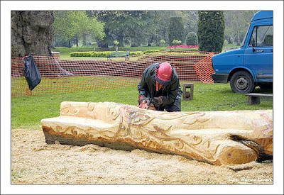 Artist Carving a new piece